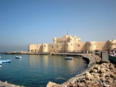 The fort at Alexandria, Egypt - site of the light house of Alexandria destroyed in an earthquake.