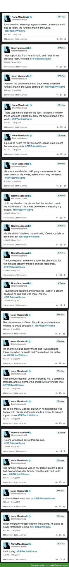 Norm MacDonald's Tribute to Robin Williams