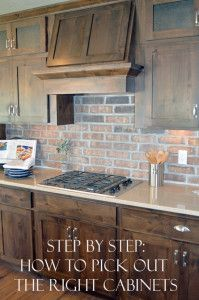 Step by step tutorial for picking out the perfect cabinets for you.