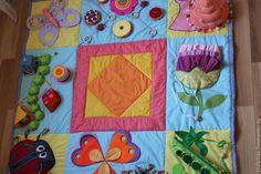 """Купить Развивающий коврик для малышей """"Яркое лето!"""" - развивающая игрушка, развивающий коврик, мягкие кубики"""