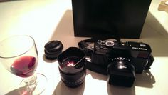 A little after xmas present. The fuji x pro 1 with 35 mm and 18 mm