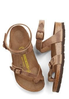 Sandals - Italian Summer Sandal in Brown