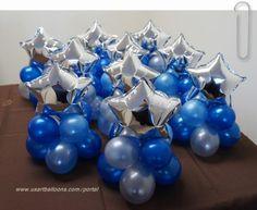 Stars Balloon Centerpieces