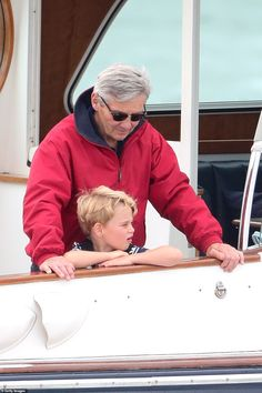 Princess George and Princess Charlotte watch Prince William and Kate Middleton in a sailing regatta
