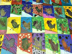 Autumn Roosters: Complete! | Young Art Love