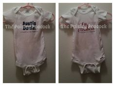 Parent Production Personalized Baby Onesie by PrettyPaisleyPeacock on Etsy