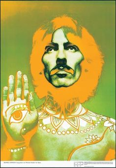 """George harrison: """"The Beatles"""" (Stern set pictured)"""" by Richard Avedon - ORIGINAL 1967 - PPP printers STERN Magazine posters, each image measures 19"""" x 27"""""""