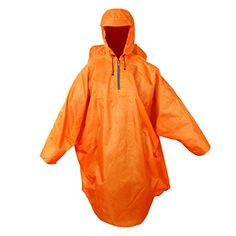 Rain Cape, Hooded Raincoat, Rain Wear, New Orleans, Hoods, Hiking, Backpacks, Orange, Amazon