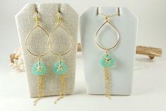 Aqua glass petal starfish necklace | skinny pig designs