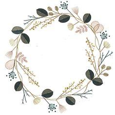 Flower Crown by Clare Owen - Clare Owen Illustration - Wreath Watercolor, Watercolor Flowers, Watercolor Art, Drawing Flowers, Flower Design Drawing, Flower Crown Drawing, Painting Flowers, Flower Patterns, Flower Designs