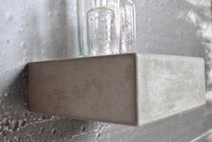 Concrete Floating Shelf Small by fmcdesign on Etsy