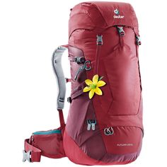 Buy the Deuter Womens Futura 28 SL Hiking Pack at eBags - Pack your must-haves for a day out on the trail inside this rugged backpack from Deuter. The Deuter Nylons, Kanken Mini, Burton Rucksack, Spring Steel, Hiking Backpack, Women's Backpack, Shoulder Pads, Camping Gear, Golf Bags