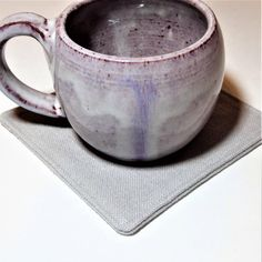 Gray Fabric Coasters