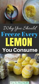 method of freezing with every consumption of lemons