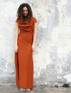 Gaia Conceptions Organic Clothing - Super Cowl Stretchy Long Dress, $155.00 (http://www.gaiaconceptions.com/super-cowl-stretchy-long-dress/)