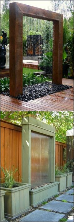 Your outdoor living area is a refuge from all the hassles that every day life sometimes deals us. You can enhance this space by adding a water feature. These water walls are perfect.   If you like this, you will enjoy viewing all our other water features (big and small; simple and complex) on our site at http://theownerbuildernetwork.co/wkls  If that isn't a water feature, I don't know what is.