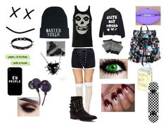 """""""Wasted Youth~"""" by welcometowonderlanddarling ❤ liked on Polyvore featuring art"""