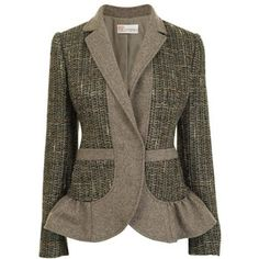RED VALENTINO Tweed Flannel Single Breasted Jacket