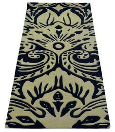 "A custom hand tufted pure wool rug. It has a pile depth of 12-14mm. Created using the ""DISRUPTIVE"" design. #CustomRugRoom"