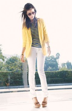 MICHAEL Michael Kors Shirred Sleeve Jacket   loving the whole outfit and thinking of Spring!