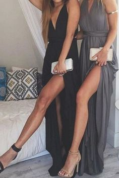 Plunging Neck Black Backless Sleeveless Dress #ZAFUL #FASHION iadorefashionn
