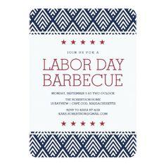 Labor Day Barbecue Party Invitation