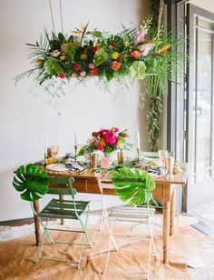 Modern Tropical Wedding Inspiration from Minted and Green Wedding Shoes.  Love this look!
