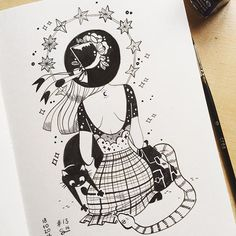 WEBSTA @ sibylline_m - #inktober 13 from yesterday