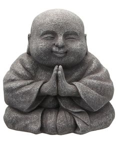 Praying Happy Buddha Statue, 8 Inches - Buddha Groove