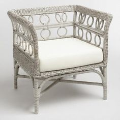 One of my favorite discoveries at WorldMarket.com: Graywash Handwoven All Weather Wicker Cassis Chair