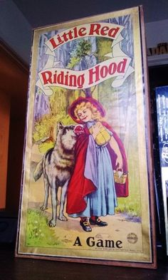 Little Red Riding Hood A Game MB Circa 1900 Christmas Gift from Santa Claus Vintage Board Games, Red Riding Hood, Little Red, Christmas Gifts, Santa, Baseball Cards, Cover, Ebay, Xmas Gifts