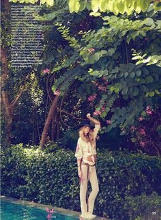 Kate Bock wears bohemian inspired looks for ELLE Canada Magazine January 2016 Photoshoot