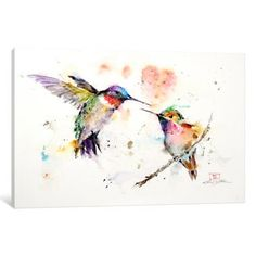 iCanvas Hummingbirds by Dean Crouser Canvas Print