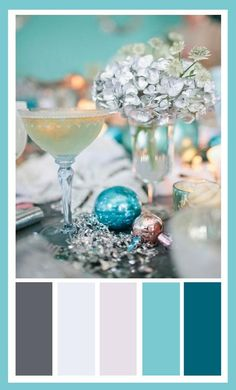 Love this holiday design board - the colours would be perfect for a beach house as well!