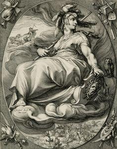 "Hendrik Goltzius (1558-1617) - Minerva (from the Series ""Three Deities""), 1596"