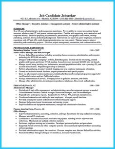 Administrative Secretary Resume Best Administrative Assistant Resume Sample  Cv  Pinterest .