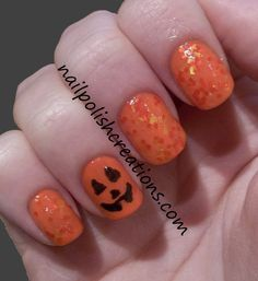 Jack o Latern Face with Pumpkin Puke Swatch