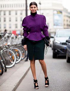 Paris Fashion Week - Street Style Fall 2012: architectural tailoring.