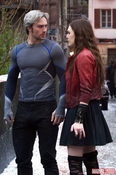 Pietro (Aaron Taylor-Johnson) and Wanda Maximoff (Elizabeth Olsen) in Marvel's 'Avengers: Age of Ultron,' hitting theaters May 1