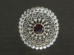 New addition to our shop! Use code SAGEINSPIRATIONS10 for a 10% discount at checkout. Garnet Gemstone Sterling Silver Ring - Size 7.0 - $95.00