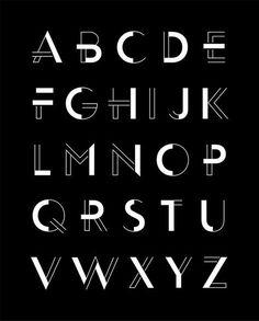 Fassade Display Typeface Family on Behance letras con poderes más claras que otras Art Deco Typography, Font Art, Typography Letters, Art Deco Font, Typography Quotes, Typography Poster, Handwriting Styles, Handwriting Fonts, Beautiful Handwriting