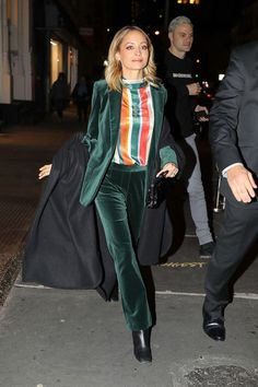 Love the velvet suit! Daily Style Directory - 4/12/2017 | British Vogue #unique #style #streetstyle #fashion #love #ootd