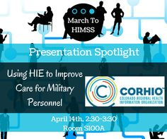 CORHIO's live presentation discussing how the Colorado Springs Military Health System within the Department of Defense was able to overcome both policy and technology barriers to improve care coordination for more than 172,000 beneficiaries by partnering with a regional health information exchange (HIE) organization.