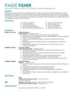 Buy side analyst resume