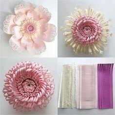 molde de flor de papel gigante - DIY   De Frente Para O Mar