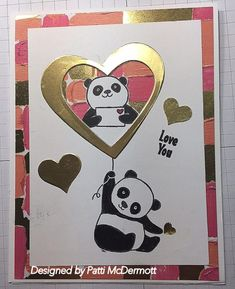 I love the new Sale-A-Bration (SAB) sets. I created this card with the set, Party Pandas, page 15 of the SAB catalog. You can get this set FREE if you purch