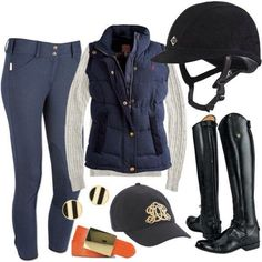 Minus the earrings and boots (I have my own boots and helmet and I don't wear earrings while riding)