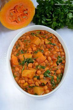 Kokosowe curry z ciecierzycy z dynią - Nina w kuchni Garam Masala, Chana Masala, Chilli Recipes, Tofu, Recipies, Curry, Ethnic Recipes, Recipes, Curries