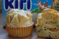 Muffins salés Kiri® & ciboulette d'Arielle