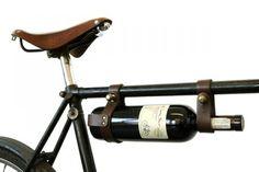 Leather Bicycle Wine Rack